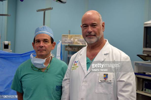 Ariel Kaufman left and Rafael Gottenger are Venezuelan doctors living in Miami who are part of a 14person team from the Venezuelan American Medical...