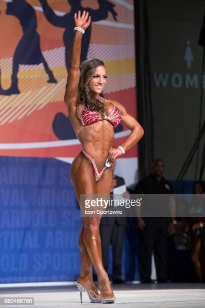 Ariel Khadr competes in Fitness International as part of the Arnold Sports Festival on March 3 at the Greater Columbus Convention Center in Columbus...