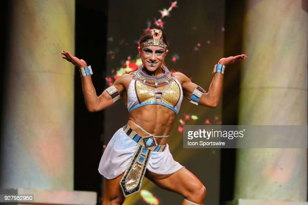Ariel Khadr competes in Fitness International as part of the Arnold Sports Festival on March 2 at the Greater Columbus Convention Center in Columbus...