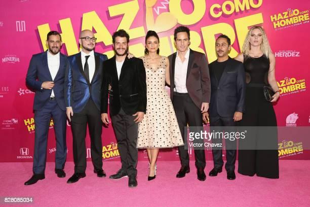 Ariel Levy film director Nicolas Lopez Alfonso Dosal Aislinn Derbez Mauricio Ochmann Humberto Busto and Ignacia Allamand attend the Hazlo Como Hombre...