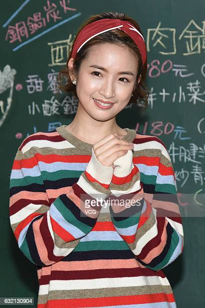 Ariel Lin celebrates Chinese New Year on January 19 2017 in Taipei Taiwan of China