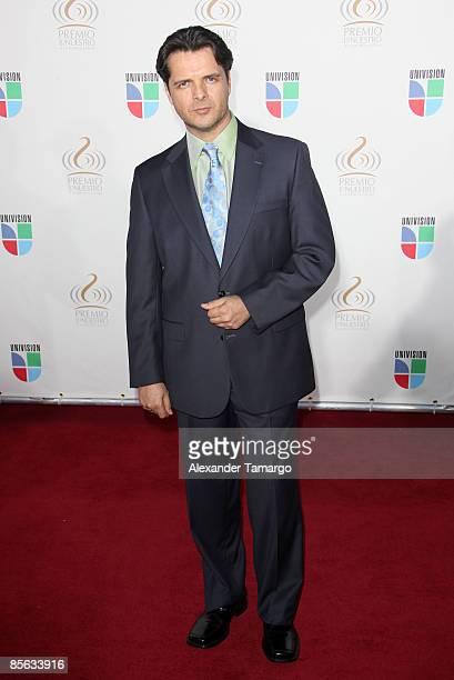 Ariel Lopez Padilla arrives at Univision's ''Premio Lo Nuestro a La Musica Latina'' Awards at Bank United Center on March 26 2009 in Coral Gables...