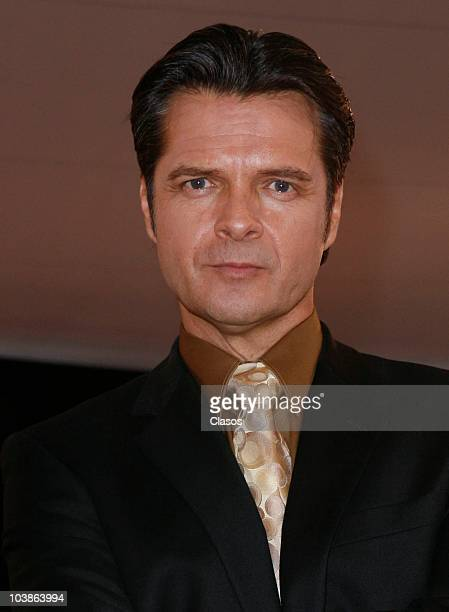 Ariel Lopez Padilla poses at the red carpet of Academia Bicentenario on September 5 2010 in Mexico City Mexico