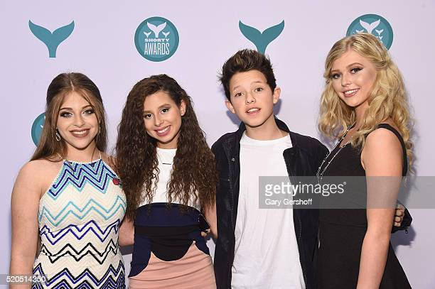 Ariel Martin Ariana Trejox Jacob Sartor and Loren Beech attend The 8th Annual Shorty Awards at The Times Center on April 11 2016 in New York City