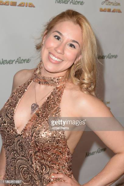 Ariel Michael arrives at Special Screening of 'Never Alone' at Arena Cinelounge on October 10, 2019 in Hollywood, California.