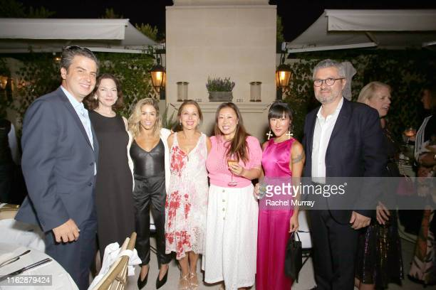 Ariel Ohana Aimee Troyen Ilana Kugel Karine Ohana Susie Wang Lin Lin and Laurent Ohana attend the Ohana Co LA Summer Party at the Peninsula Hotel on...