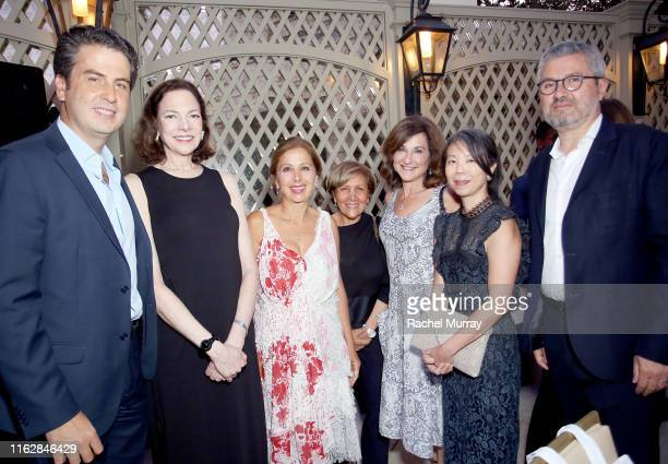 Ariel Ohana Aimee Troyen Karine Ohana Mila Moursi Lori Bush guest and Laurent Ohana attend the Ohana Co LA Summer Party at the Peninsula Hotel on...
