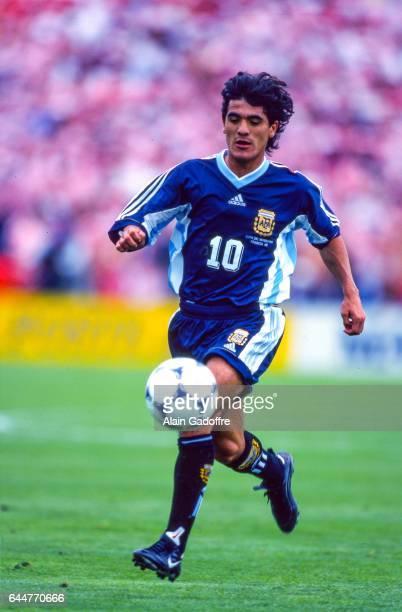 Ariel ORTEGA Argentine / Croatie Coupe du Monde 1998 Photo Alain Gadoffre / Icon Sport