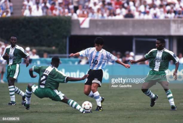 Ariel Ortega Argentine / Nigeria Finale Jeux Olympiques 1996 Photo Alain Gadoffre / Icon Sport
