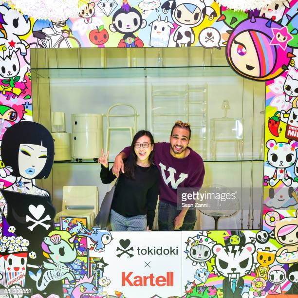 Ariel Ortega and Eunice Gee attend the tokidoki x Kartell Launch Party at Kartell Flagship Store New York on September 21 2017 in New York City