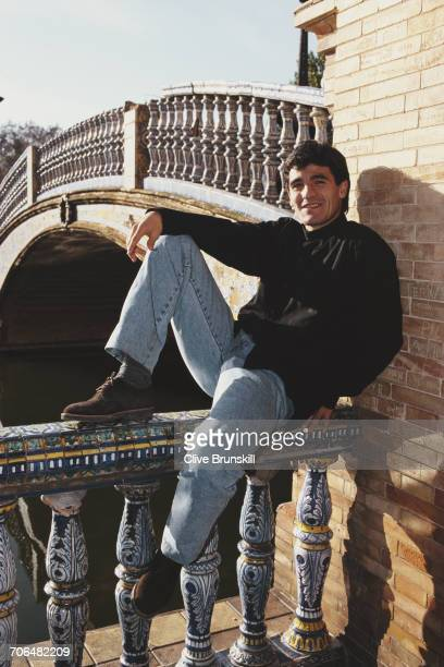 Ariel Ortega of Argentina and Valencia Football Club poses for a portrait for soft drinks manufacturer PepsiCola on 23 December 1999 in Seville Spain