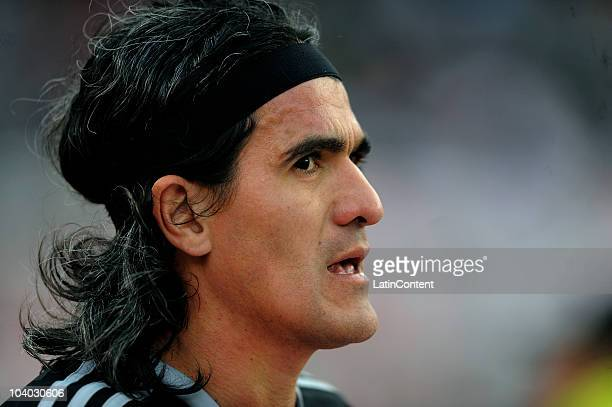 Ariel Ortega of River Plate during the match against Arsenal as part of the IVECO Bicentenario Apertura 2010 at Monumental Stadium on September 12...