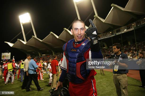 Ariel Pestano of Cuba is pictured after the game against Puerto Rico on March 15 2006 at Hiram Bithorn Stadium in San Juan Puerto Rico Cuba defeated...