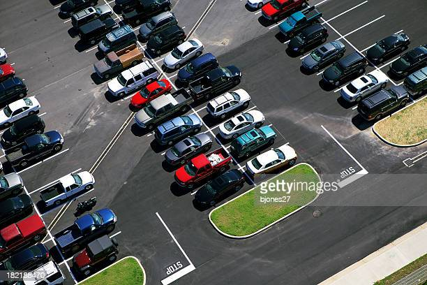 Ariel picture of a parking lot