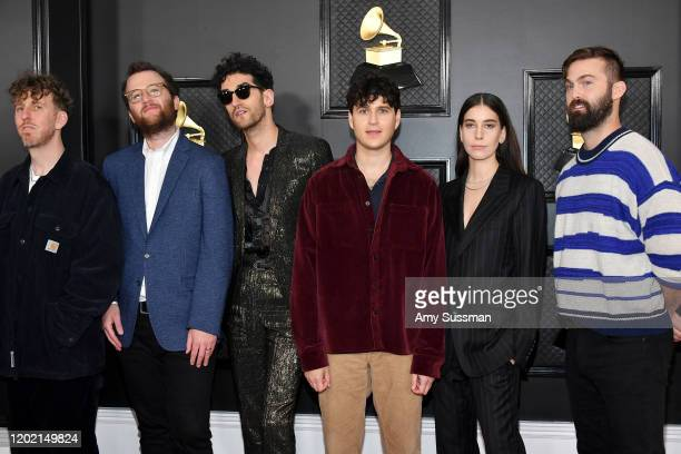 Ariel Rechtshaid Chris Baio of Vampire Weekend David Macklovitch of Chromeo Ezra Koenig of Vampire Weekend Danielle Haim of HAIM and Chris Tomson of...