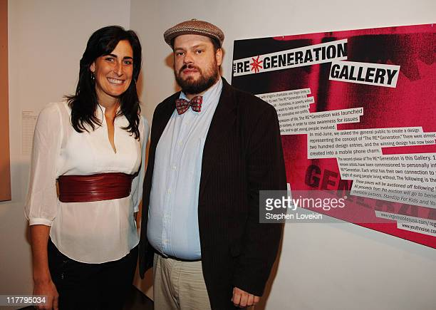 Ariel Rosen and Rich Jacobs during Virgin Mobile ReGeneration Art Auction and Party December 13 2006 at The Xchange in New York New York United States