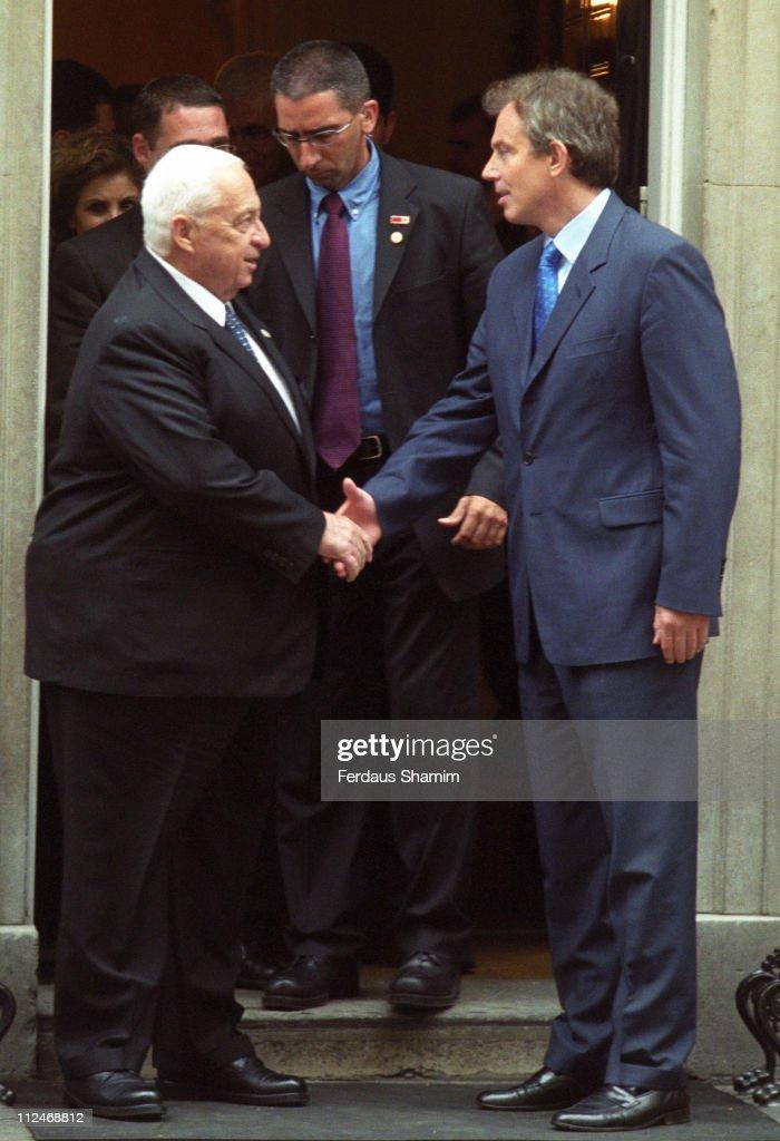 Ariel Sharon Meets Tony Blair - June 12, 2002