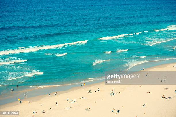 Ariel shot of broadbeach surfers paradise.