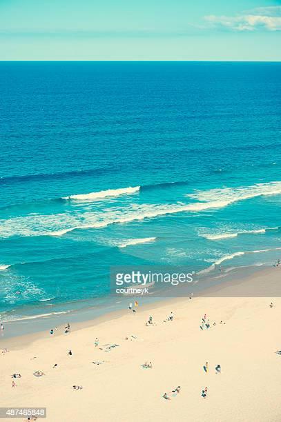 Ariel shot of broadbeach surfers paradise.
