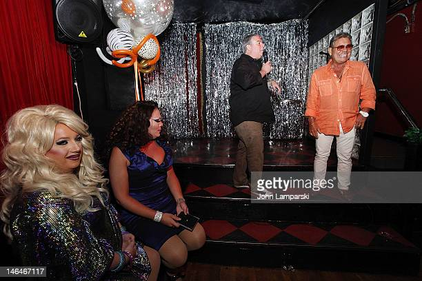 Ariel Sinclair Renee Fleming Elvis Duran and Uncle Johnny attends Alex Carr's birthday celebration>> at The Stonewall Inn on June 16 2012 in New York...