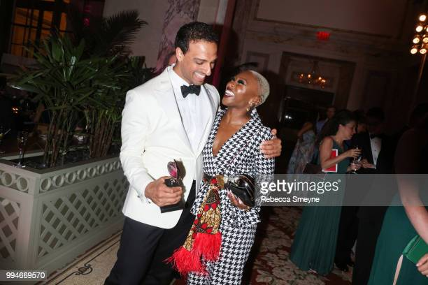 Ari'el Stachel and Cynthia Erivo attend the Tony Awards Gala at the Plaza on June 10 2018 New York New York