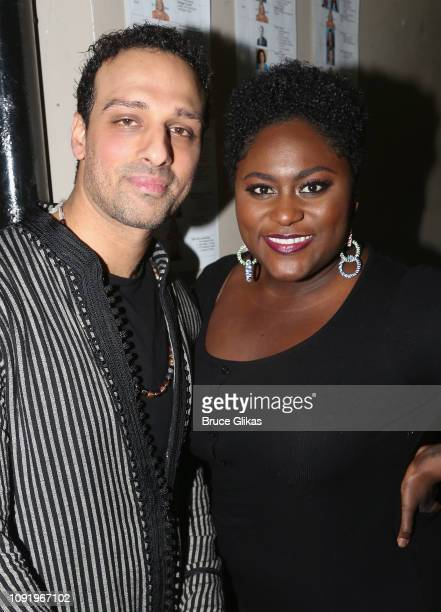Ari'el Stachel and Danielle Brooks pose at the 34th Annual CSA Artios Awards at Stage 48 on January 31 2019 in New York City