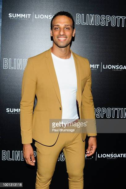 Ari'el Stachel attends as Lionsgate with the Cinema Society host a screening of 'Blindspotting' at Angelika Film Center on July 16 2018 in New York...