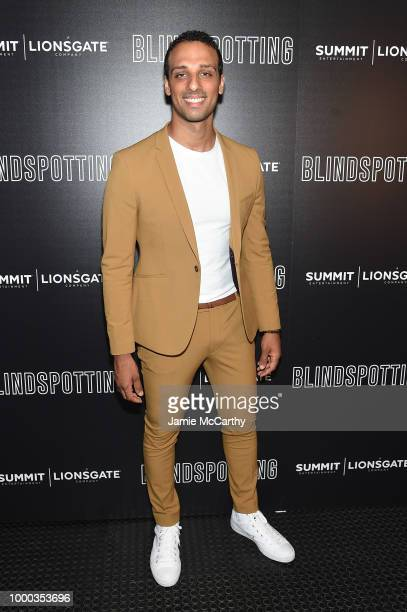 Ari'el Stachel attends the screening of 'Blindspotting' hosted by Lionsgate at Angelika Film Center on July 16 2018 in New York City