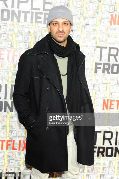 Ari'el Stachel attends 'Triple Frontier' World Premiere at Jazz at Lincoln Center on March 3 2019 in New York City