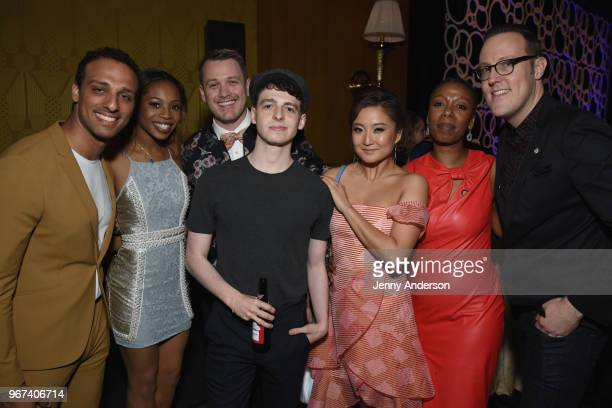 Ari'el Stachel Hailey Kilgore Michael Arden Anthony Boyle Ashley Park Noma Dumezweni and Dane Laffrey attend the Tony Honors Cocktail Party...