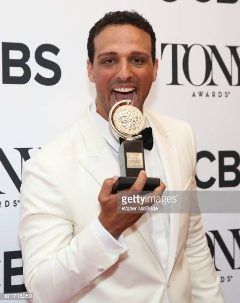 Ari'el Stachel poses in the 72nd Annual Tony Awards Press Room at 3 West Club on June 10 2018 in New York City