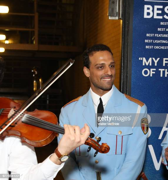 AriÕel Stachel with the Alexandria Ceremonial Police Orchestra during 'The Band's Visit' postshow jam celebrating the 10 time Tony Award winning best...