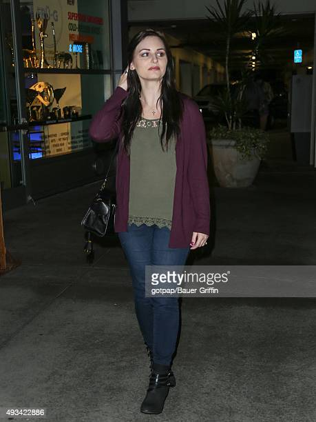 Ariel Teal Toombs is seen arriving at the ArcLight Theatre on October 19 2015 in Los Angeles California