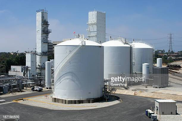 Ariel view of a chemical refinery