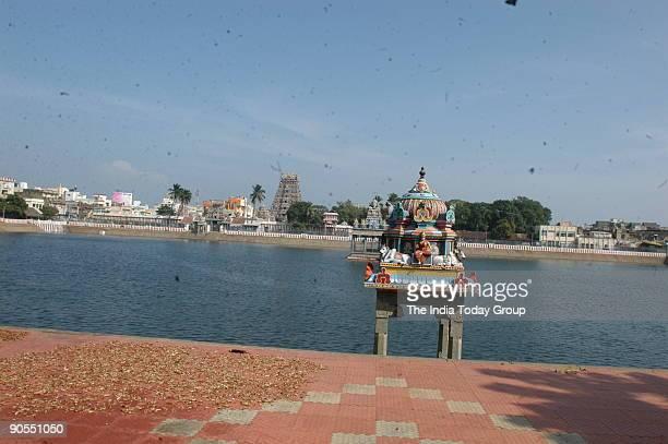 Ariel View of Kapaleeshwara Temple in Mylapore in Chennai Tamil Nadu India