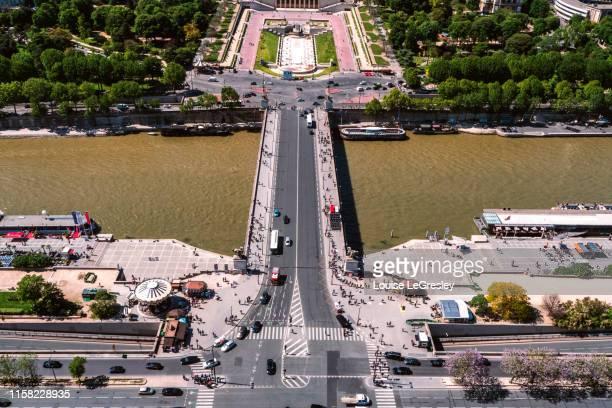 Ariel view of place du Trocadéro in Paris France