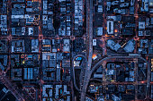 Ariel view of San Francisco, USA at night.