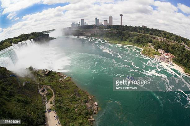 Ariel view of the maid of the most next to Niagara Falls.