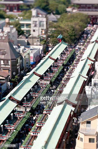 Ariel view of the Nakamisedori in Asakusa on September 1 2013 in Tokyo Japan Completed in the year 645 making it the oldest and most significant...