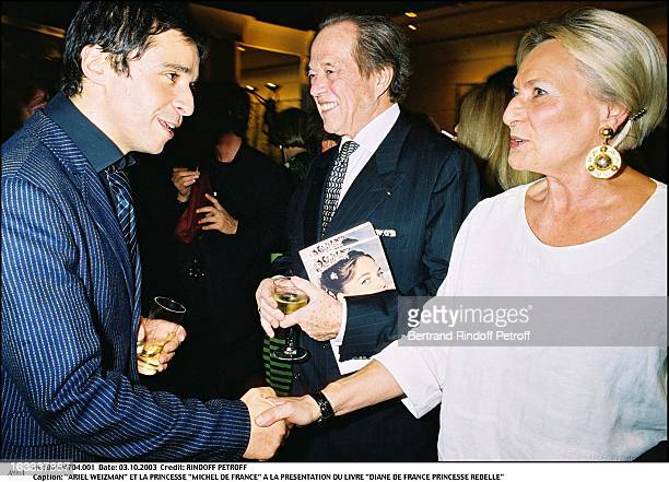 Ariel Weizman and Princess 'Michel De France' at the presentation of the book 'Diane De France Princesse Rebelle'