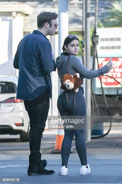 Ariel Winter and friend are seen at the carwash on November 29 2016 in Los Angeles California