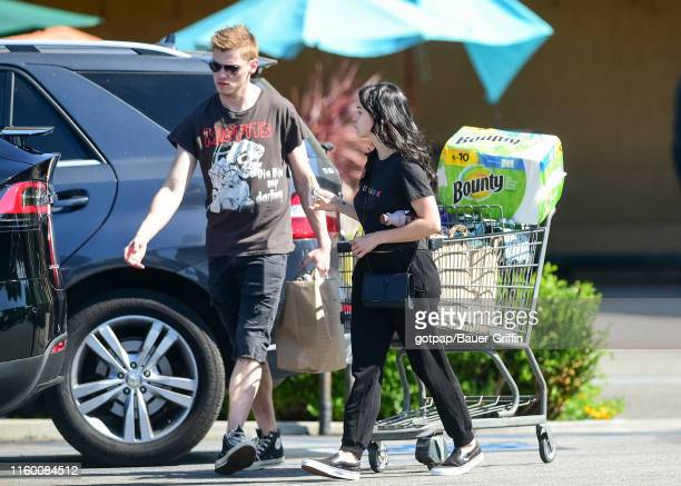 Ariel Winter and her boyfriend Levi Meaden are seen on August 06 2019 in Los Angeles California