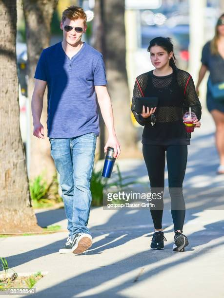 Ariel Winter and Levi Meaden are seen on April 19 2019 in Los Angeles California