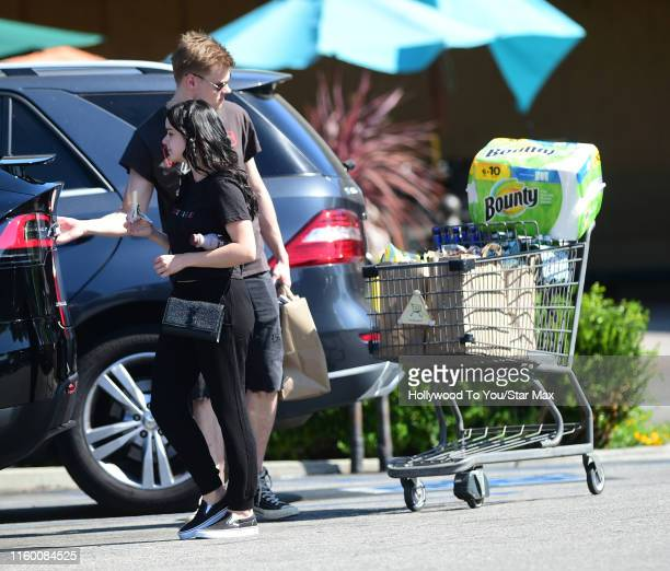 Ariel Winter and Levi Meaden are seen on August 6 2019 at Los Angeles