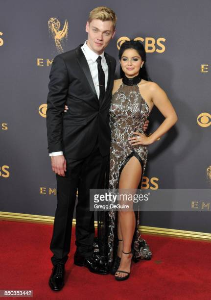 Ariel Winter and Levi Meaden arrive at the 69th Annual Primetime Emmy Awards at Microsoft Theater on September 17 2017 in Los Angeles California