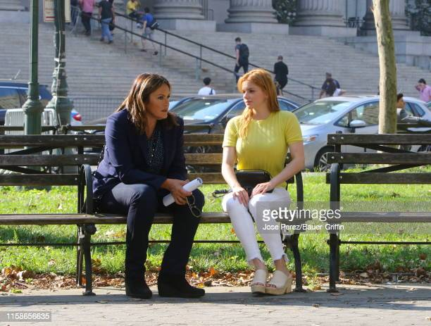 Ariel Winter and Mariska Hargitay are seen filming Law and Order Special Victims Unit on July 30 2019 in New York City