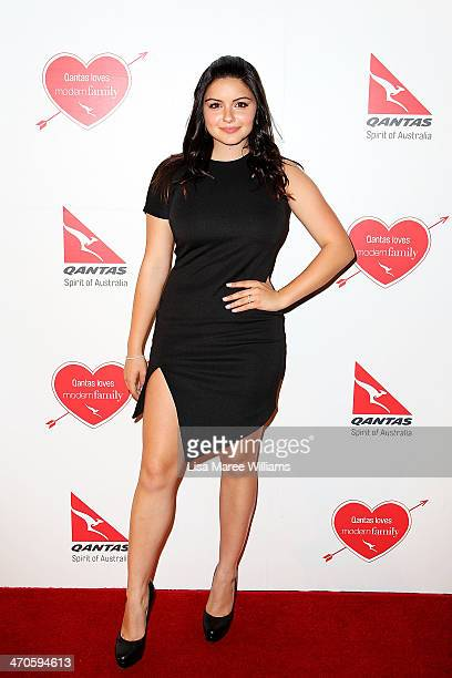 Ariel Winter arrives at the Modern Family Media Call at The Sebel on February 20 2014 in Sydney Australia The cast from the popular television...