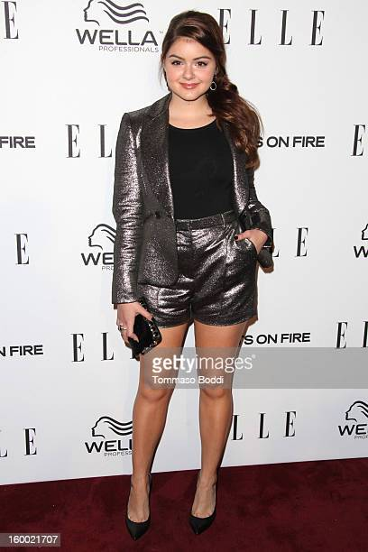 Ariel Winter attends the ELLE Women in Television Celebration presented by Hearts on Fire Diamonds and Wella Professionals held at Soho House on...