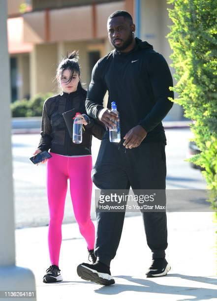 Ariel Winter is seen on April 10, 2019 in Los Angeles, California.