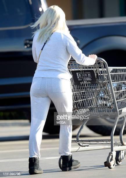 Ariel Winter is seen on February 23, 2021 in Los Angeles, California.